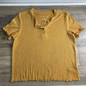 American Eagle Ribbed Baby Tee